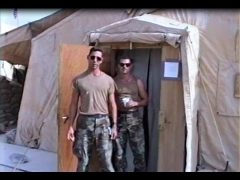 Operation Desert Storm/Desert Shield at King Fahd Airport going home; part 2 of 3