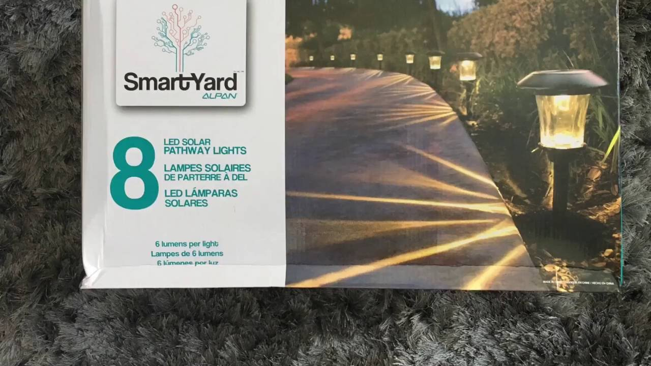 smartyard solar led large pathway lights from costco