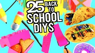 25 DIY SCHOOL SUPPLIES PROJECTS FOR Back To School 2016-2017!