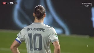 Zlatan Ibrahimović | Bristol City 2-1 Manchester United | 2017-18 EFL Cup quarter-final