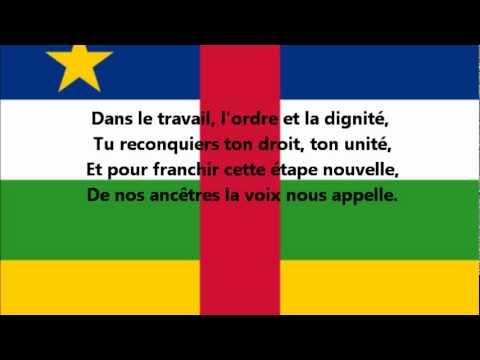 Hymne national de la République-Centrafricaine (français)