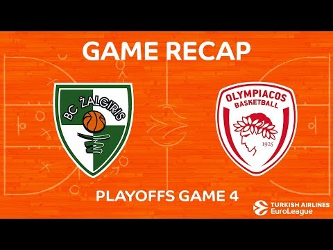 Highlights: Zalgiris Kaunas - Olympiacos Piraeus