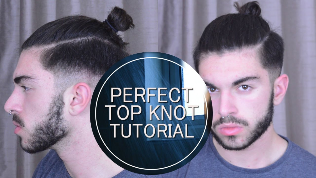 Mens Hair Perfect Top Knotman Bun Tutorial Youtube