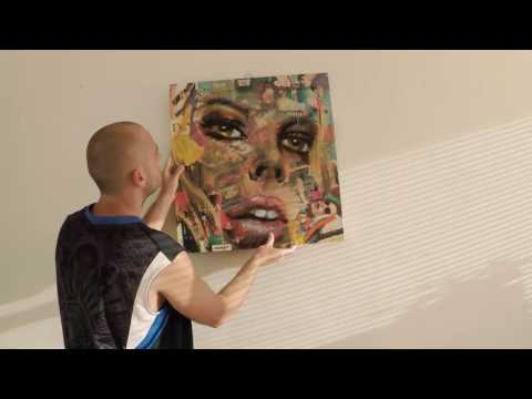 Innovative Pop Art painting with two faces /Contemporary artwork/ Part2