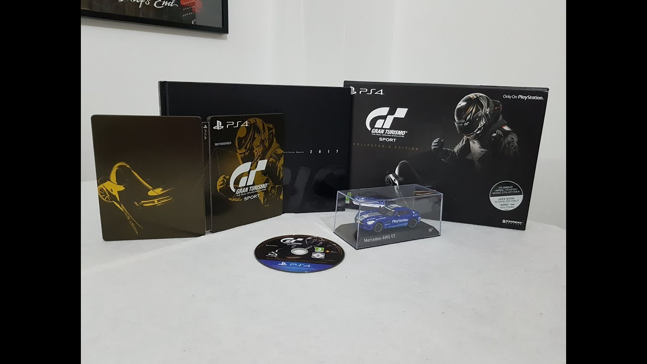 gran turismo sport collectors edition ps4 unboxing youtube. Black Bedroom Furniture Sets. Home Design Ideas