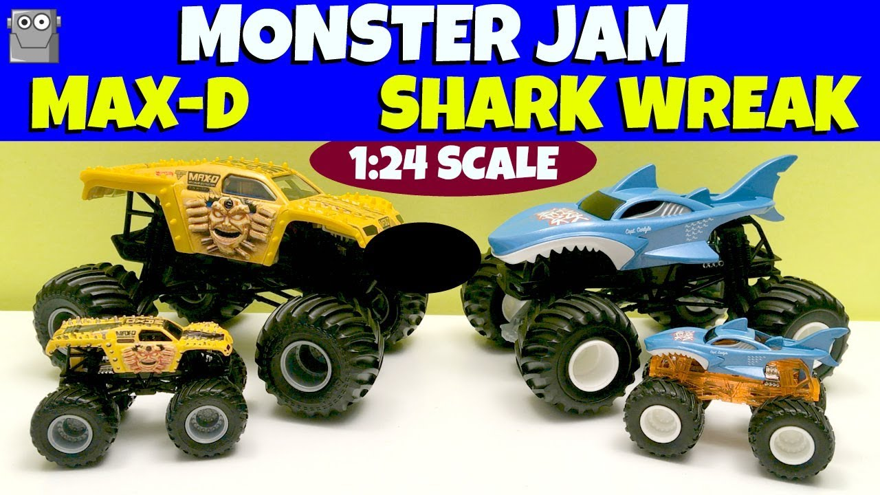 Shark Wreak Max D 1 24 Scale Monster Jam Trucks Youtube