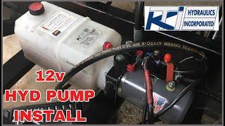 How to install a 12v electric hydraulic pump, power unit - YouTube | Hydraulic Pump Wiring Diagram 3 |  | YouTube