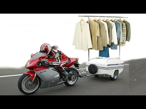 How to pick up dry cleaning / run errands on a motorcycle