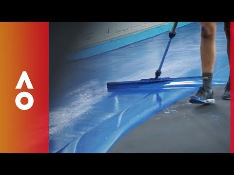 Court painting is an art form | Australian Open 2018 Mp3