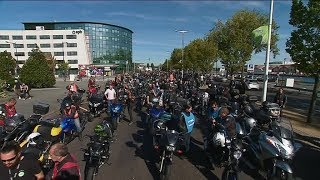 Le Havre : les motards normands manifestent contre les zones de circulation restreintes