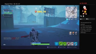 Playing with my baseball teamate Fortnite battle royale