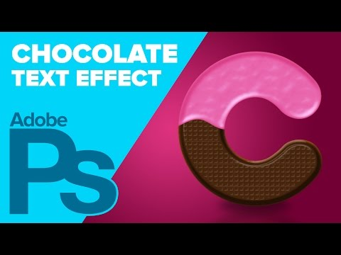 How To Create Chocolate Text In Photoshop