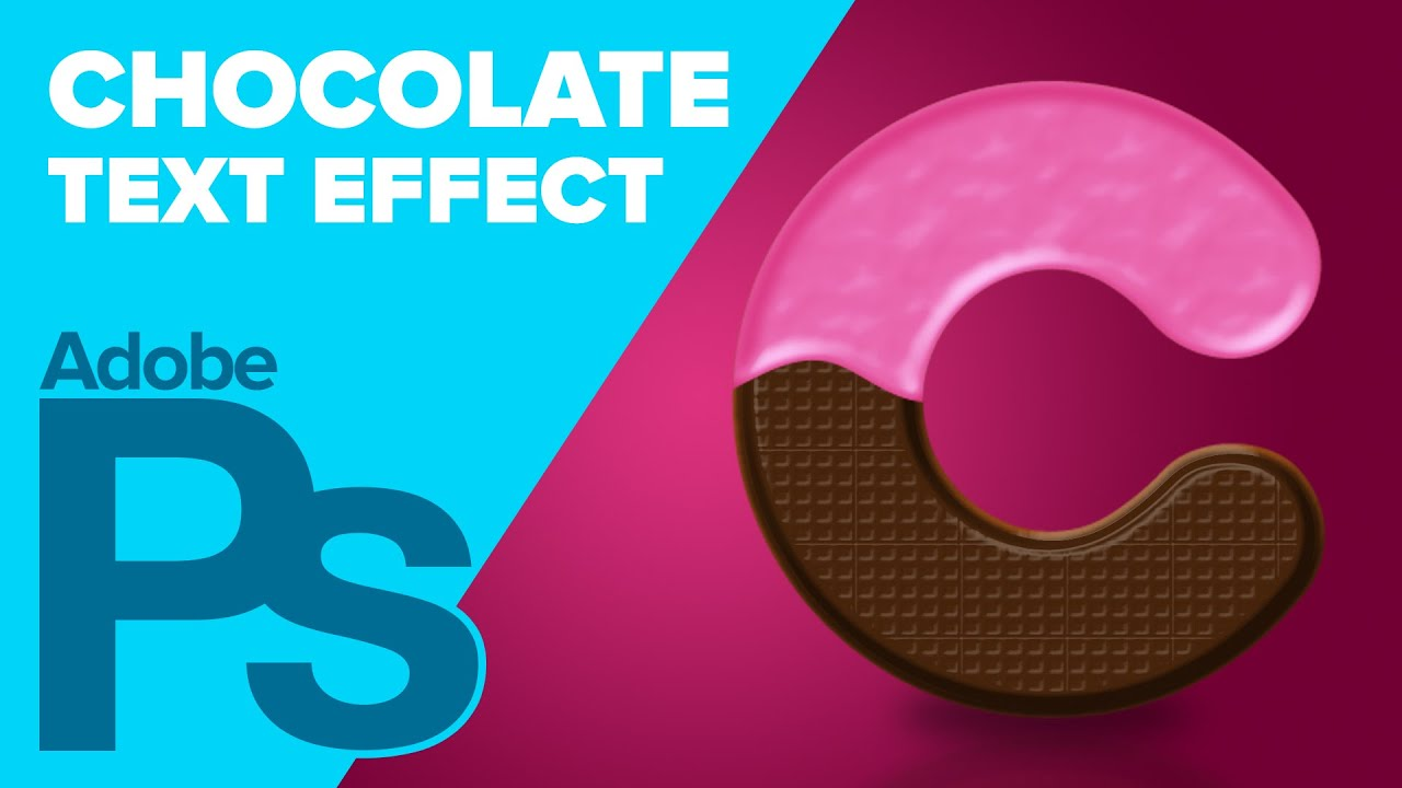 How To Create Chocolate Text In Photoshop YouTube