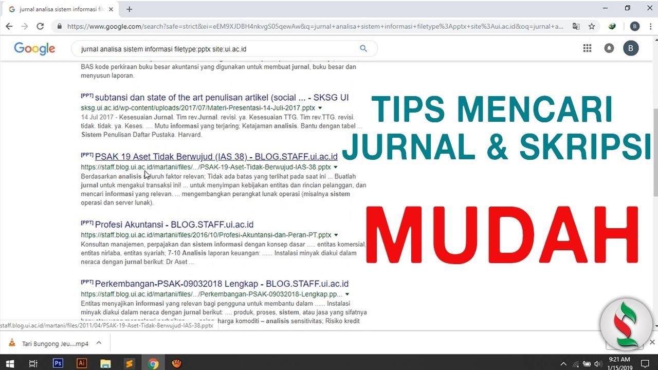 Tips Mencari Contoh Jurnal Skripsi Dengan Mudah Youtube