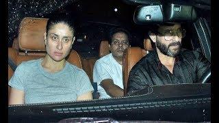 Kareena Kapoor With Saif Ali Khan Visits At Shashi Kapoor House