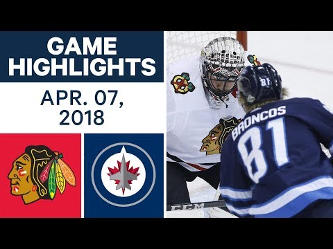 NHL Game Highlights | Blackhawks vs. Jets - Apr. 07, 2018