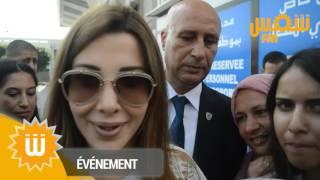 لحظة وصول نانسي عجرم إلى مطار تونس قرطاج