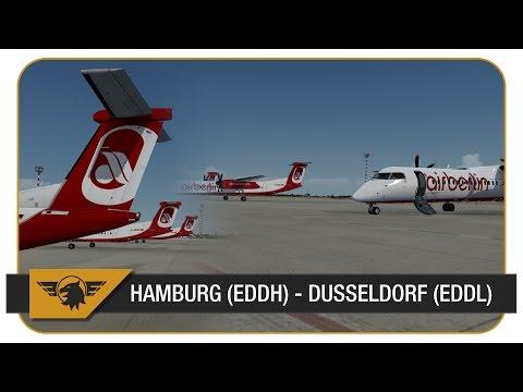 [Prepar3D]   Majestic Q400   BER377C   Air Berlin   VATSIM   Hamburg (EDDH) - Dusseldorf (EDDL)