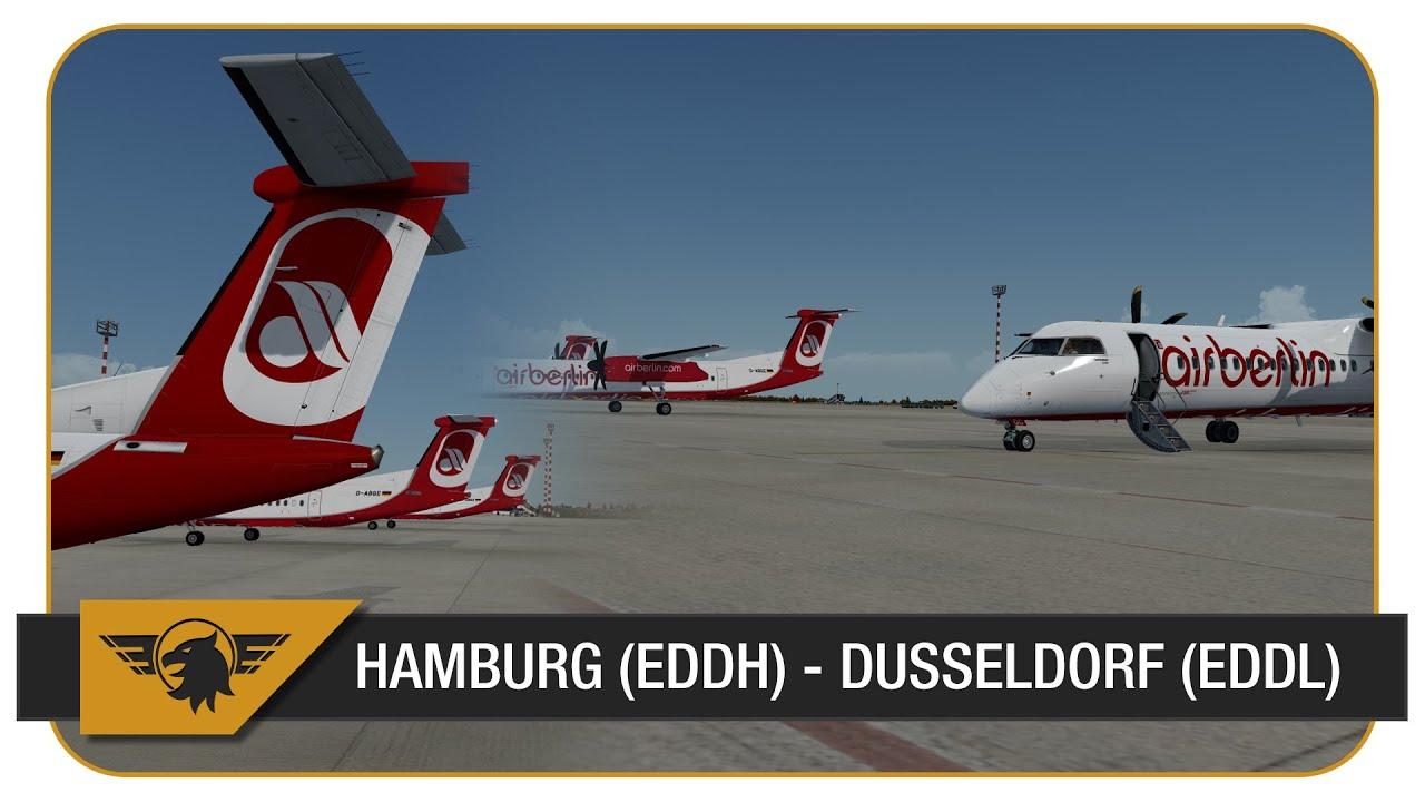 [Prepar3D] | Majestic Q400 | BER377C | Air Berlin | VATSIM | Hamburg (EDDH)  - Dusseldorf (EDDL)