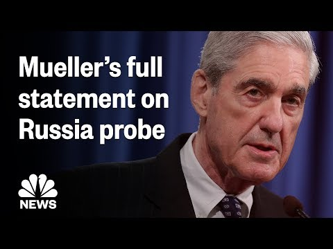 Adrian Long - Mueller speaks about the Russia investigation