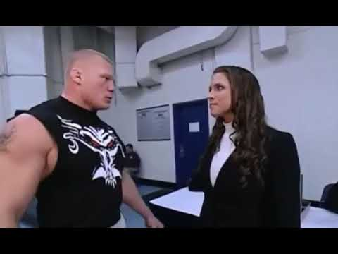 2016 Brock Lesnar KISS Stephanie McMahon and attack Big Show and Mat Hard
