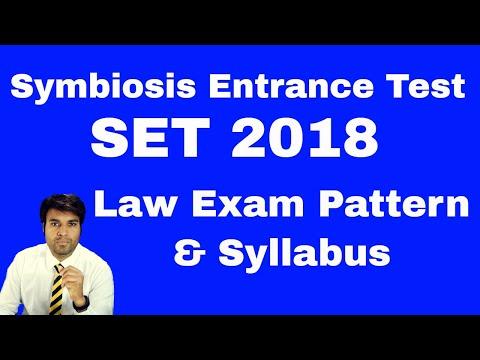 SET 2018 Law Exam PATTERN & SYLLABUS (Symbiosis Entrance Test)