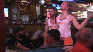 Pretending to be Hooters Employees