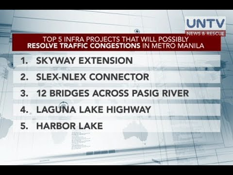DPWH names five major infra projects seen to solve PHL traff