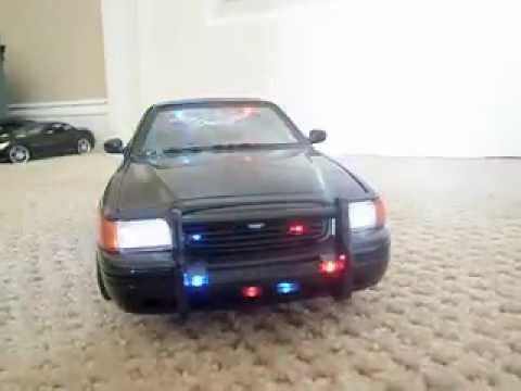 for sale my 1 18 black undercover custom police car with working led. Black Bedroom Furniture Sets. Home Design Ideas