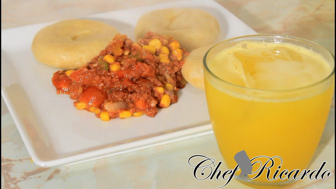 Jamaican Corned Beef Served With Cornmeal Dumpling, Chef Ricardo ...