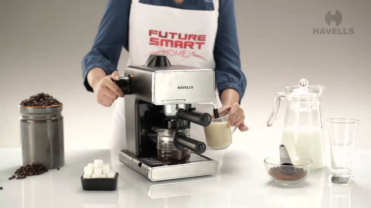 Havells Coffee Maker Demo : Havells Donato Coffee Maker Demo - YouTube