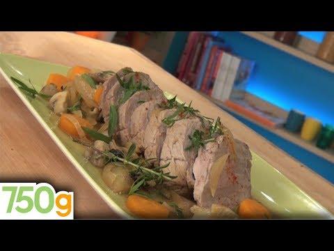 recette-du-rôti-de-veau-aux-champignons---750g