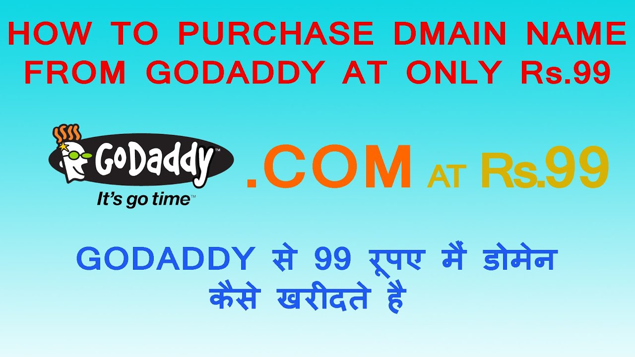 Godaddy 99 Cent Domain Name Offer The Godaddy offers domain just for 99 cents that is way more cheaper than ever provided by other domain registrar. You can grab Godaddy 99 Cent Domain Deal by following instruction given below.