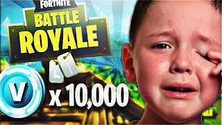 HE CRIES! Surprising a 10 Year Old Kid with FREE FORTNITE V-BUCKS! (Free Fortnite Battle Pass)