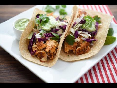 Fish Tacos With Avocado-Cilantro Sauce Recipe