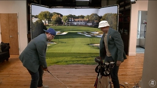 """Fore Play"" Golf Boys Try Out The New Office Simulator"