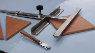 Come costruire un attrezzo per tagliare le piastrelle . How to build the tool to cut the tiles .