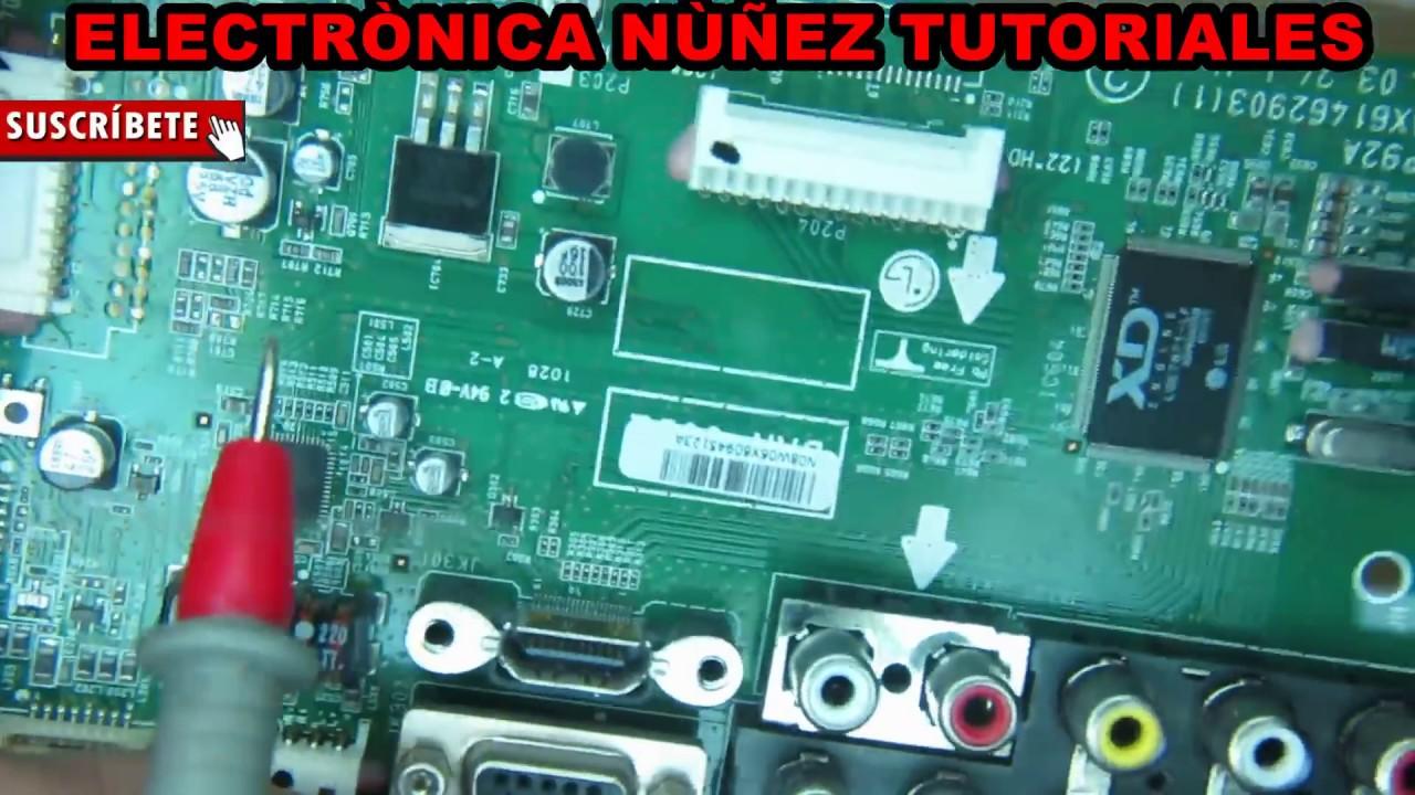 Falla en pantalla lg no enciende falla com n proceso de for Bombilla led se enciende y se apaga