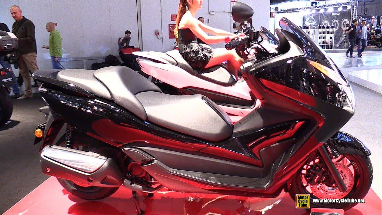 2016 Honda Forza 300 Scooter - Walkaround - 2015 EICMA Milan - YouTube