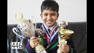 9-year old Chess Prodigy makes 1st move for Magnus Carlsen!