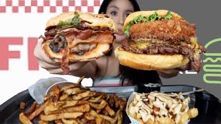 SHAKE SHACK VS FIVE GUYS MUKBANG! (EATING SHOW)