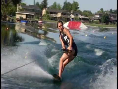 Female nude water skiing