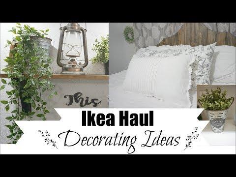 IKEA DECORATING | FARMHOUSE DECOR IDEAS FROM IKEA HAUL | Momma from scratch