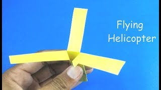 3 Blades Paper Helicopter - How To Make A Flying Paper Helicopter