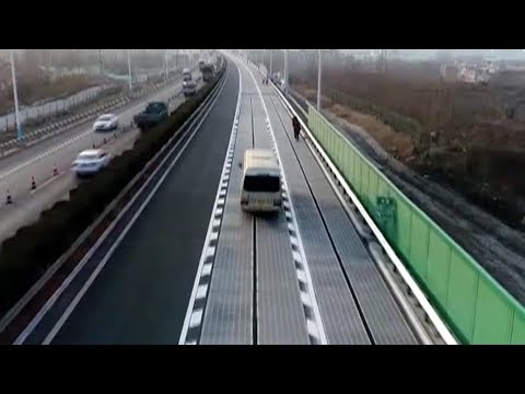 World's First 'solar-panel Highway' In China Recharges Electric Cars