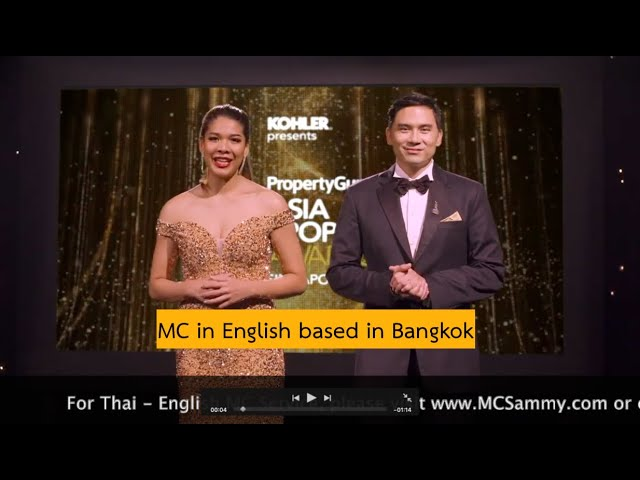 MC in English in Thailand for PropertyGuru Asia Property Award 2020  -Singapore
