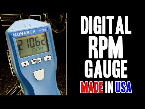 Measure RPMs! Monarch PT99 Digital Non-Contact Optical Tachometer - MADE IN  USA