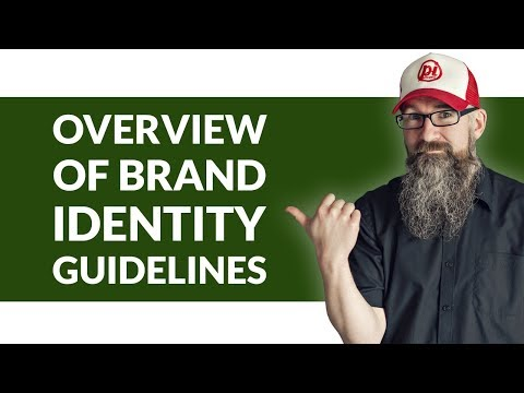 Brand identity guidelines. A walk through guide of a brand identity / logo guidelines document.