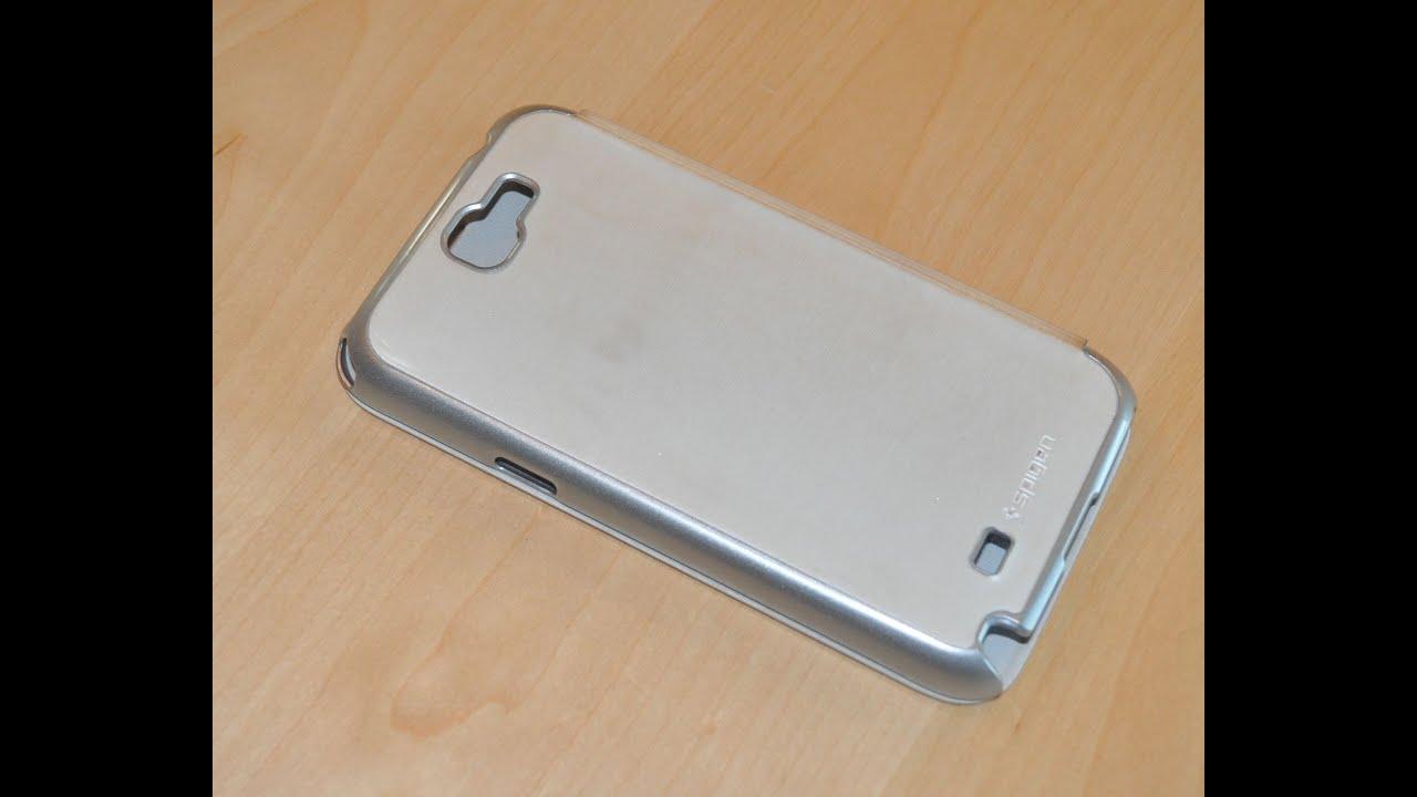 new product 550f2 7b3ed Spigen SGP Samsung Galaxy Note 2 Case Ultra Flip Metallic Series