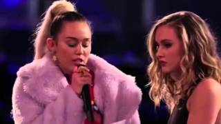 Miley Cyrus Sorprendió A The Voice Con Su Calidad Vocal Impresionante